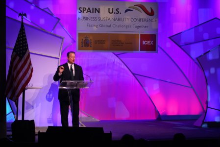 Al Gore, speaking at the Spain-US Business Sustainability Conference