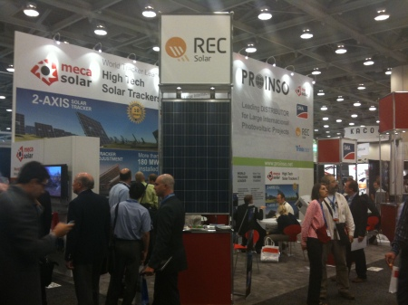 Mecasolar's Booth at Intersolar USA
